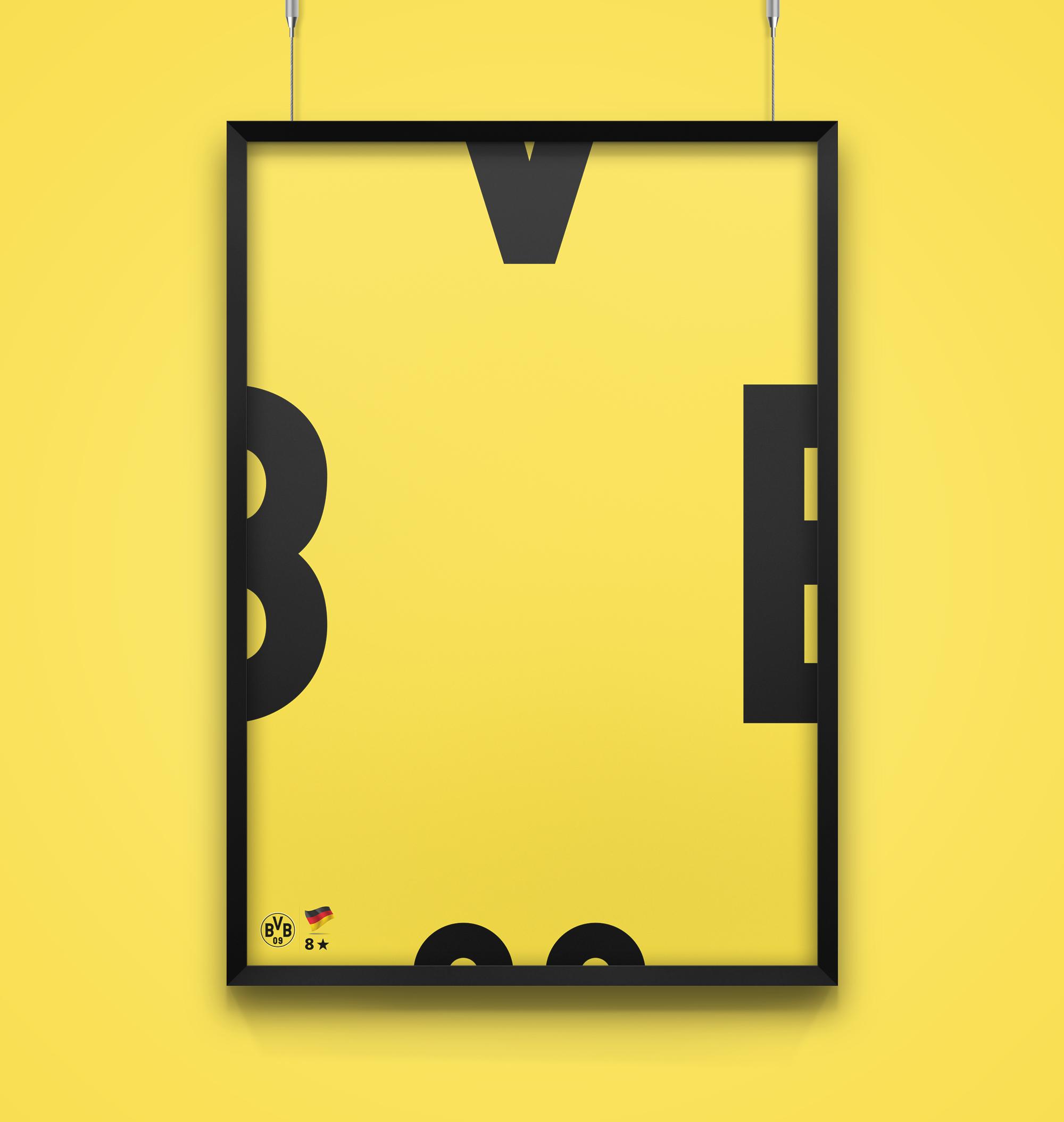 raniev-rod-alvarez-diseño-gráfico-queretaro-poster-minimalist-champions-2-borussia-dortmund