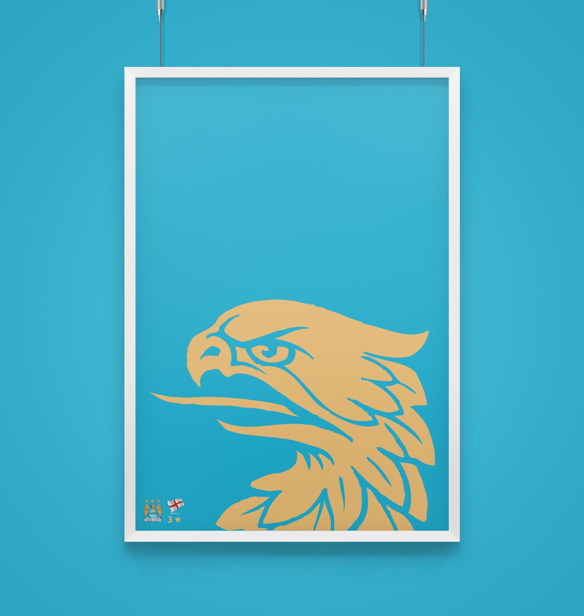 raniev-rod-alvarez-diseño-gráfico-queretaro-poster-minimalist-champions-5-manchester-city